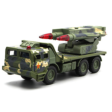 Military Vehicle / Missile Truck Toy Truck Construction Vehicle / Toy Car / Model Car Music & Light Unisex Kid's Toy Gift