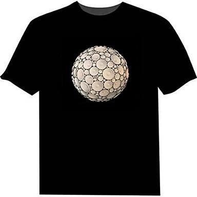 LED-T-Shirts 100% Baumwolle Neuheit 2 AAA Batterien