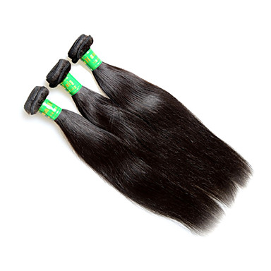 Remy Human Hair Remy Weaves Straight Indian Hair 300 g 1 Year