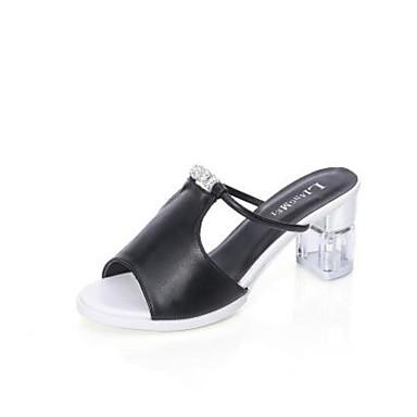 Naiset Kengät PU Kevät Comfort Sandaalit Käyttötarkoitus Kausaliteetti Valkoinen Musta