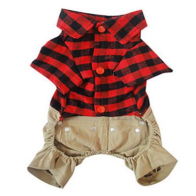 Hund Mäntel Hundekleidung Niedlich Lässig/Alltäglich Britisch Rot Kostüm Für Haustiere