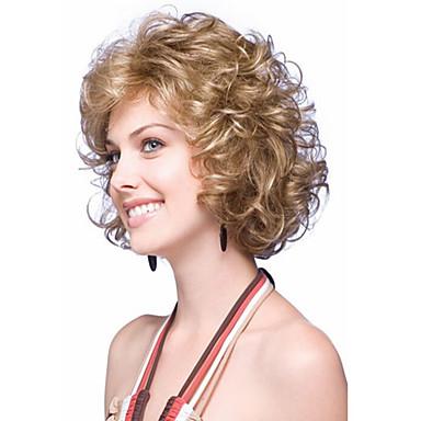 Synthetische Perücken Wellen Schwarz Damen Kappenlos Karnevalsperücke Halloween Perücke Natürliche Perücke Kurz Synthetische Haare