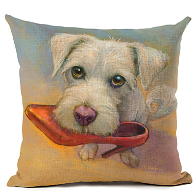 1 pçs Linho Fronha, Cachorro Moderno/Contemporâneo