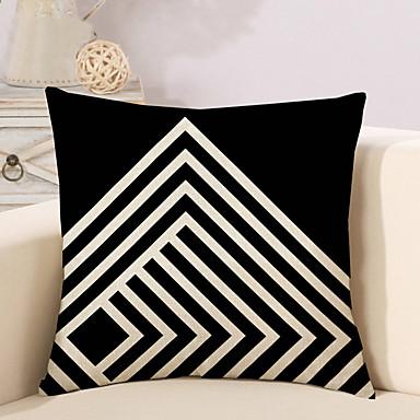 1 ks Bavlna / Len Polštářový potah Povlak na polštář,Geometriské vzory Novinka MódníGeometrik Vintage Na běžné nošení retro tradiční