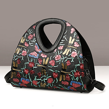 Women Bags Winter PU for Casual Red black