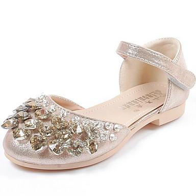Mädchen Schuhe Glanz Frühling Herbst Komfort Sandalen Flacher Absatz Für Normal Gold Silber