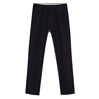 Pánské Jednoduchý Není elastické Rovné Oblek Kalhoty Rovné Mid Rise Čistá barva