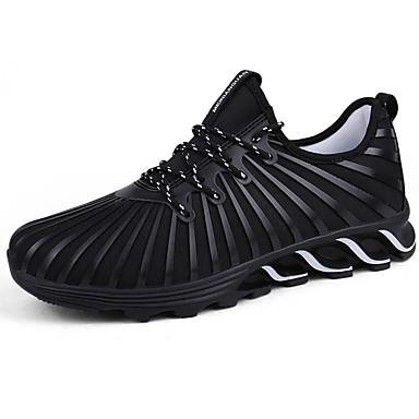 Homens sapatos Tule Primavera Outono Conforto Tênis Cadarço para Ao ar livre Preto Cinzento Vermelho