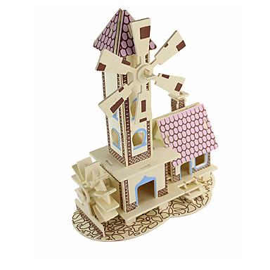 Puzzles 3D - Puzzle Bausteine Spielzeug zum Selbermachen Architektur Holz Model & Building Toy