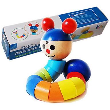Stavební bloky Vzdělávací hračka Hračky Transformovatelné Dřevo Dětské Pieces