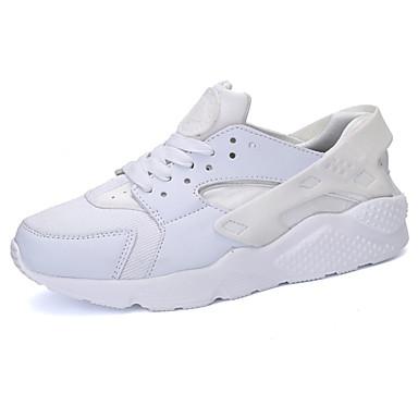 Miesten kengät Kumi 봄/Syksy Comfort Urheilukengät Jouksu Solmittavat varten ulko- Valkoinen Musta Musta/valkoinen Musta/punainen