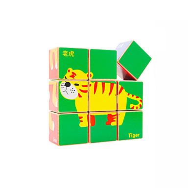 Stavební bloky Dřevěné puzzle Hračky Obdélníkový Dřevěný Dětské Pieces