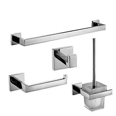 Jogo de Acessórios para Banheiro Alta qualidade Latão 4pçs - Banho do hotel Suporte de Escova de Banheiro barra da torre Robe Hook