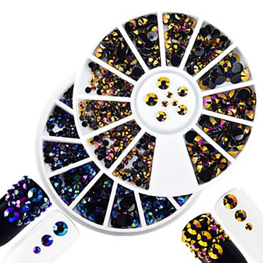 2 pcs Jóias de Unhas Strass Adorável arte de unha Manicure e pedicure Diário Glitters / Casamento / Shimmering / Jóias de unha
