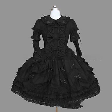Gothic Lolita Punk Dámské / Dívčí Šaty Cosplay Košíček Dlouhý rukáv Krátký / Mini