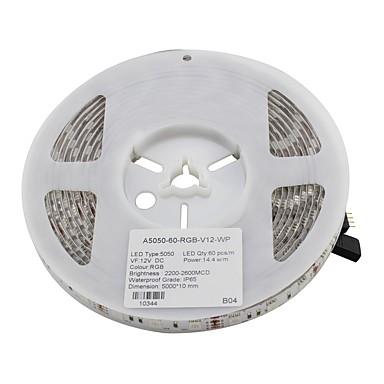 5m Faixas de Luzes LED Flexíveis 300pcs LEDs RGB DC 12V