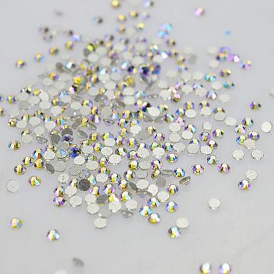 1 pcs Jóias de Unhas Strass Cristal / Luxo / Espumante arte de unha Manicure e pedicure Casamento / Festa / Festa / Noite Elegante & Luxuoso / Brilho & Glitter / Jóias de unha