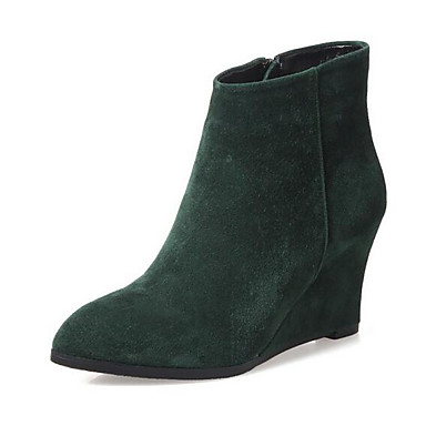 Naiset Kengät Mokkanahka Kevät Comfort Bootsit Käyttötarkoitus Kausaliteetti Musta Vihreä