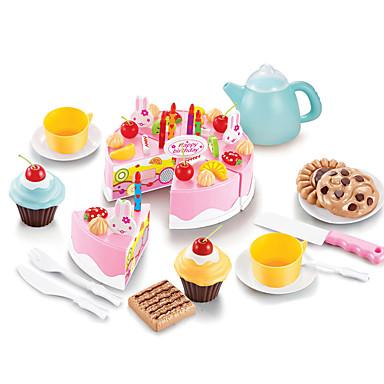 Comida de Brinquedo Brinquedos Cortadores de Bolos e Bolachas Bolo Plásticos Para Meninas Crianças Dom