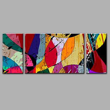 Handgemalte AbstraktModisch Drei Paneele Hang-Ölgemälde For Haus Dekoration