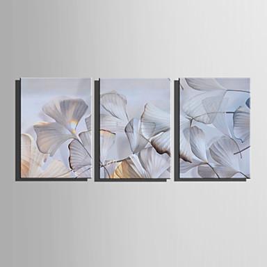 Blumenmuster/Botanisch Modern Europäischer Stil, Drei Paneele Segeltuch Vertikal Druck Wand Dekoration Haus Dekoration