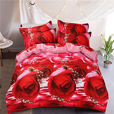 ensembles housse de couette 3d mod le al atoire 4 pi ces polyester coton imprim polyester. Black Bedroom Furniture Sets. Home Design Ideas