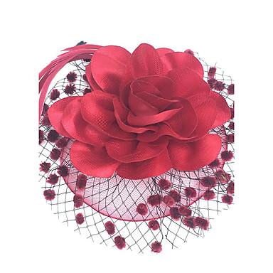levne Ozdoby do vlasů na večírek-Fascinátory / Klobouky / Doplňky do vlasů s Květiny 1ks Zvláštní příležitosti Přílba