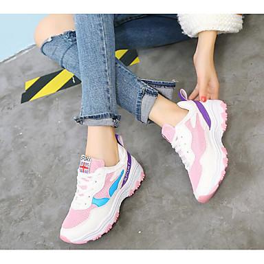 Damen Sneakers Komfort Frühling PU Normal Weiß Rosa Flach