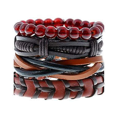 Lederarmbänder - Leder Retro, Modisch Armbänder Regenbogen Für Hochzeit / Party / Sport