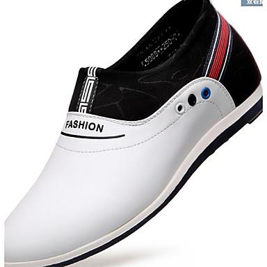 Miehet Kengät Aitoa nahkaa Tyll Kesä Comfort Sandaalit Käyttötarkoitus Kausaliteetti Valkoinen Musta Ruskea