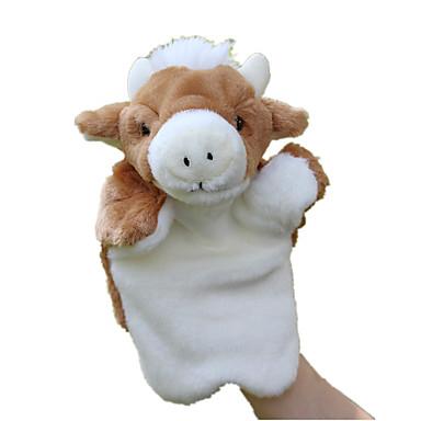 Fantoches de dedo Fantoches Cow Fofinho Animais Adorável Tactel Felpudo Crianças Brinquedos Dom