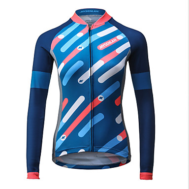 Mysenlan Mulheres Manga Longa Camisa para Ciclismo Moto Camisa / Roupas Para Esporte, Secagem Rápida, Respirável Poliéster