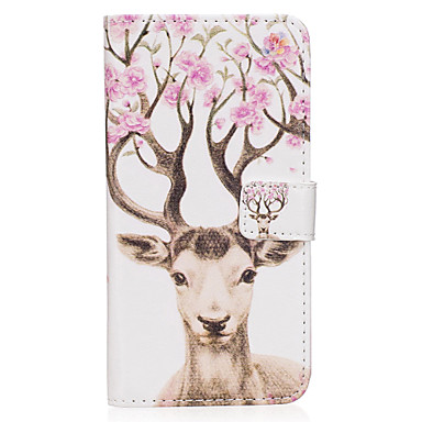 Capinha Para Samsung Galaxy S8 Plus / S8 Carteira / Porta-Cartão / Com Suporte Capa Proteção Completa Animal Rígida PU Leather para S8 Plus / S8 / S7 edge