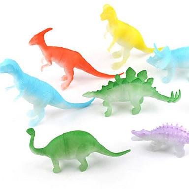 Dragões & Dinossauros Figura do dinossauro Triceratops Dinossauro jurássico Velociraptor Plástico Crianças Para Meninos Para Meninas Brinquedos Dom