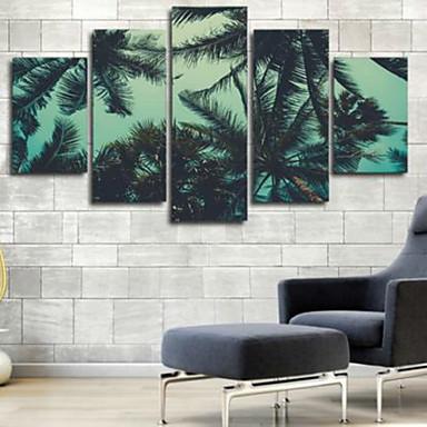 Reprodukce umění Květinový/Botanický motiv Moderní,Pět panelů Horizontální Grafika Wall Decor For Home dekorace