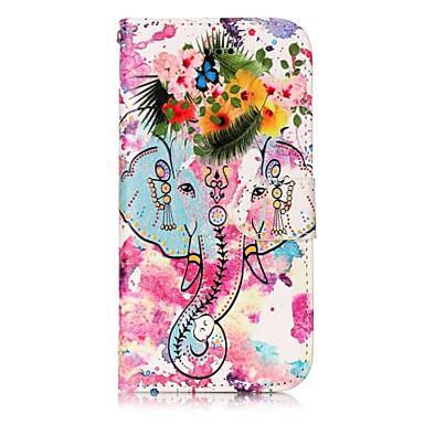 Capinha Para Apple iPhone 7 Plus iPhone 7 Porta-Cartão Carteira Com Suporte Flip Magnética Estampada Com Relevo Capa Proteção Completa
