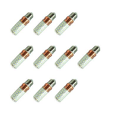 10pçs 12W 980lm E27 Lâmpadas Espiga T 84 Contas LED SMD 2835 Branco Quente / Branco / 10 pçs