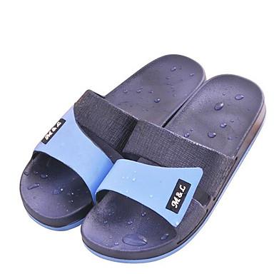 Pánské Boty PVC Jaro Pohodlné Pantofle a Žabky Pro Ležérní Černá Kávová Námořnická modř