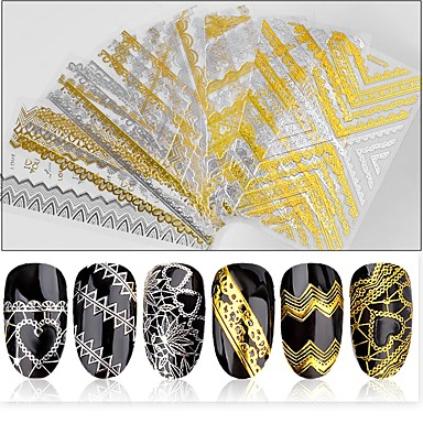 1 pcs Etiquetas e Fitas Decalques de unha Nail Art Design