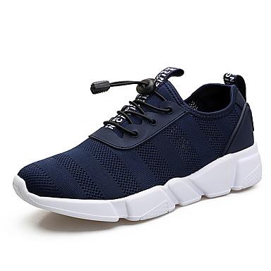 Herrn Schuhe maßgeschneiderte Werkstoffe Frühling Herbst Komfort Sneakers Knopf für Sportlich Normal Draussen Schwarz Blau