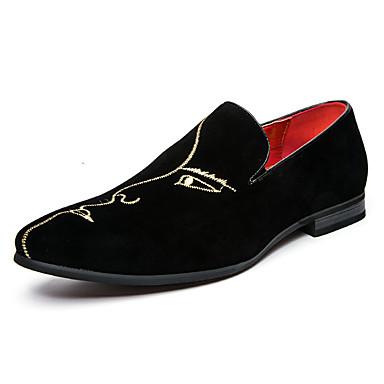 Homens sapatos Couro Ecológico Verão Outono Sapatos formais Mocassins e Slip-Ons Tachas Combinação para Casamento Casual Festas & Noite