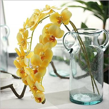 Flores artificiais 1 Ramo Estilo Europeu Orquideas Flor de Mesa