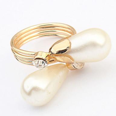 Pánské Dámské manžeta Ring Prsten Band Ring Syntetický diamant Imitace perly Přizpůsobeno Jedinečný design Logo Klasické Vintage Cikánské