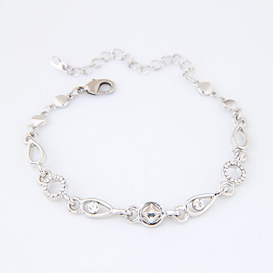 Women's Chain Bracelet - Rhinestone Fashion Bracelet Silver For Casual / Daily