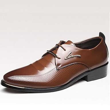 Men's Patent Leather Fall / Winter Comfort Oxfords Walking Shoes Black / Light Brown / Formal Shoes / Party & Evening