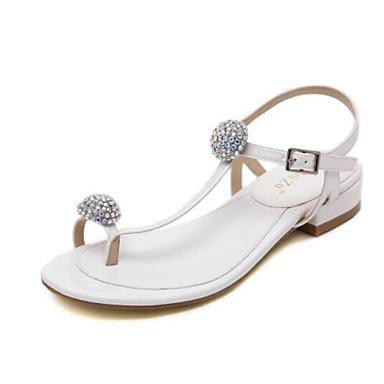 Naiset Sandaalit PU Kevät Kulta Valkoinen Musta Hopea Tasapohja
