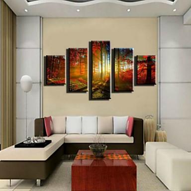 Kunstdrucke Landschaft Ländlich,Fünf Panele Horizontal Druck Wand Dekoration For Haus Dekoration