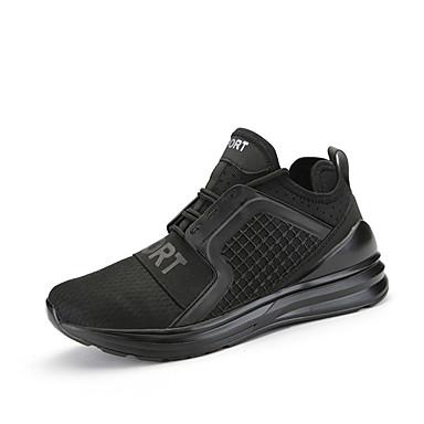 Herrn Schuhe Tüll Frühling Sommer Komfort paar Schuhe Sportschuhe Rennen Schnürsenkel für Sportlich Normal Draussen Weiß Schwarz Grau Rot
