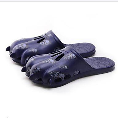 Herren Schuhe Tüll Frühling Komfort Slippers & Flip-Flops Für Normal Schwarz Braun Blau