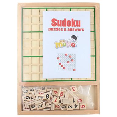 Bausteine Schachspiel Sudoku Puzzles Bildungsspielsachen Spielzeuge Quadratisch Holz Kinder Stücke